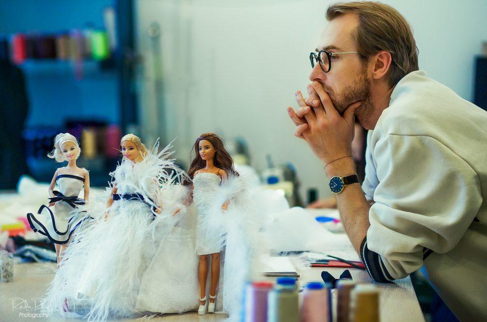 """Stilisto K. Rimdžiaus """"Barbie"""" lėlėms kūriamų vestuvinių suknelių įvaizdinė fotosesija"""