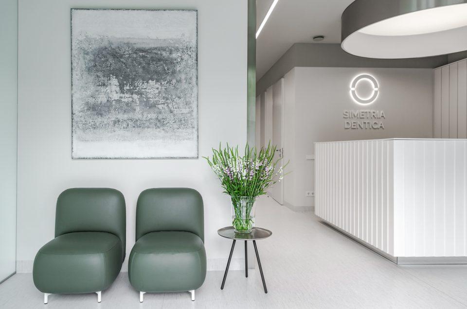 Simetria Dentica klinikos interjero fotografavimas