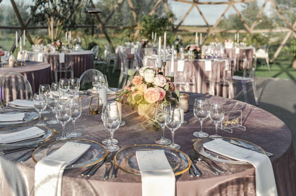 Rudens vestuvės dekoro fotografavimas Kupolas renginimas